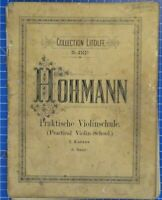 Collection Litolff No.2162a Hohmann Praktische Violinschule 1.Kursus B18840