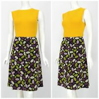 Womens Hobbs Cotton Vintage Skirt Micro Corduroy Multicolored Floral Size 12UK