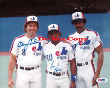 GARY CARTER TIM RAINES ANDRE DAWSON  autographed 8x10 photo RP