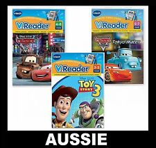 3 GAMES ~ Vtech STORIO Vreader ~ CARS 2 + MATER + TOY STORY 3 ~ NEW