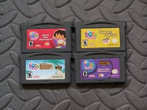 Lot Nintendo Game Boy Advance GBA Games Dora the Explorer: 4 Titles