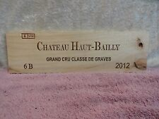 2012 CHATEAU HAUT BAILLY GRAND CRU WOOD WINE PANEL