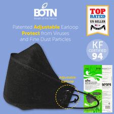 2-10 Pcs KF94 BLACK Protective Face Mask Adult Made in Korea KFDA Approved