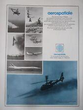 1/1976 PUB AEROSPATIALE CONCORDE AIRBUS RALLYE PUMA GAZELLE FRELON FRENCH AD