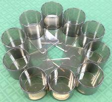 DRINK HOLDERS - 10 POKER PLASTIC SLIDE UNDER FOR CAN BOTTLE GLASS - FREE S/H *
