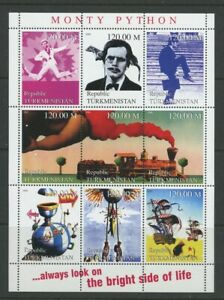 Monty Python Television mnh Miniature Sheet 9 Stamps Turkmenistan