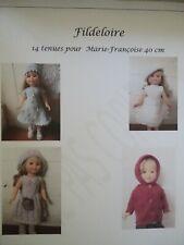 livre PDF tricot poupée Marie-Françoise 40 cm, version numérique