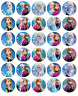 Frozen Anna And Elsa x 30 Cupcake Toppers Edible Wafer Paper Fairy Cake Toppers