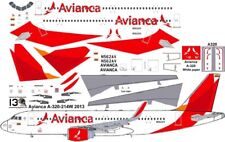 Avianca Airbus A-320 decals for Revell 1/144 kit