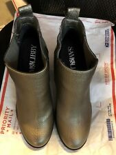 "Booties, SAM & LIBBY, metalliic gold, 4"" block heel SZ: 7M worn once"