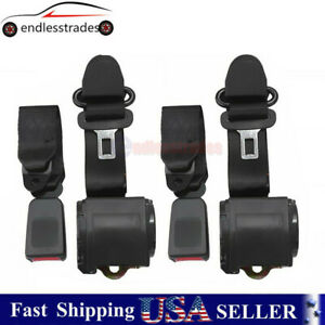 2X Universal 3 Point Retractable Seat Belts For Jeep CJ YJ Wrangler 82-95 629441
