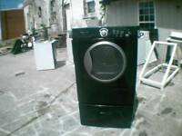 Black Frigidaire Front Load Dryer On A Pedestal New Heating Element. Cleaned Out