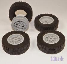 LEGO Technik - 4 Reifen 62,4 x 20 mm m. Felge 43,2 x 18 mm / 86652 32019 NEUWARE
