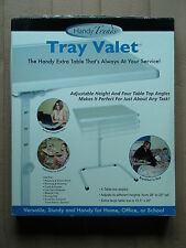 HANDY TRENDS ADJUSTABLE TRAY VALET LIGHTWEIGHT MOBILE TABLE