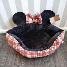 Disney Minnie Mouse Red Black Pet Bed  TARTAN  BNWT FREE P&P