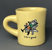 Life is Good Coffee Tea Mug Jake Adirondack Chair Do What You Like What Yellow