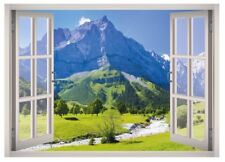 Grubenkarspitze Mountain Window 3D Wall Decal Art Mural Decor Canvas Vinyl W131