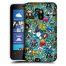 CUSTODIA COVER per NOKIA LUMIA 620 N620 TPU BACK CASE STICKERS