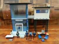 Playmobil Police Station / Jail with Figures and Accessories