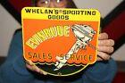 Evinrude+Outboard+Boat+Motors+Sales+Service+Fishing+Gas+Oil+Porcelain+Metal+Sign