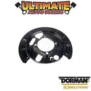 Dorman: 924-002 - Left and Right Rear - Brake Dust Shield / Backing Plate