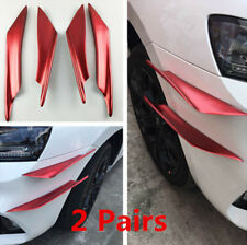 Red 4pc ABS Front Bumper Body Side Wing Spoiler/lip for Car/Ttruck/SUV New Style