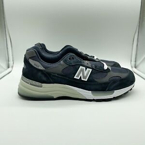 New Balance 992 Navy Blue Grey White Made In USA M992GG M992 Size 10.5 NEW DS
