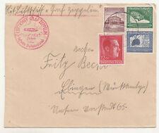 Zeppelin Brief 1938 Sudetenland nach Ebingen Württemberg ! (D