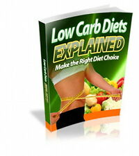 Lose Weight. Get More Energy With Low Carb Diets. Shed Pounds, Burn Body Fat (CD