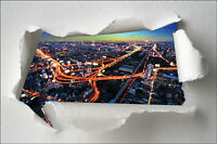 Sticker Trompe l'oeil papier déchiré déco New York City réf 1392