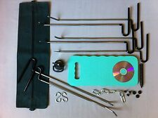 UK PDR tools rods ding puller, stainless steel paintless repair kit hail removal