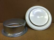 """200mm, 8"""" Metal Air Valve / Ceiling Grille in White for Ducting"""