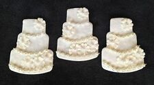 6 Wedding Cake cakes Handmade mulberry paper Shower Embellishments scrapbook
