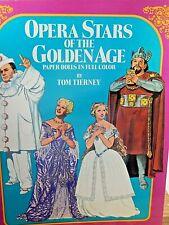 Tom Tierney Papier Poupées Opéra Stars De The Doré Age Uncut En Complet Couleur