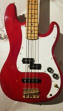Hohner Professionel PJ Bass S Fender PickUp Wine Red Body Maple Neck evtl Koffer
