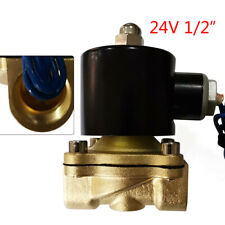 12 Npt 24v Ac Brass Electric Solenoid Valve For Water Air Gas Fuel 265 F New