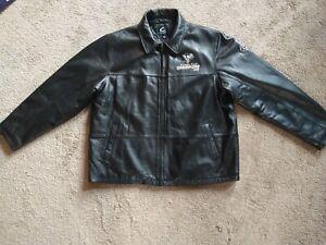 VINTAGE  PITTSBURGH PENGUINS 2009  BLACK SOFT LEATHER JACKET Size XL