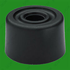 1x 28mm Black PVC Floor Cylinder Wedge Door Stop, Skirting stop Guard 1 1/8""