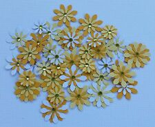 Flower Embellishments  SUN, approx 40 pieces,with  Rhinestones