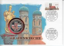 D.Numisbrief Germany Uganda Munich Frauenkirche Coloured Coin 1994