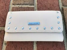 TOMMY HILFIGER WOMENS WALLET Trifold Checkbook Cream Off-White NEW