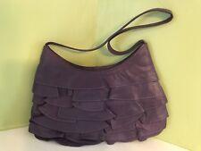 "Unbranded purple leather zip closure 6"" X 10"" handbag"