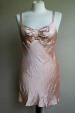 Victoria's Secret Angel M Peach Silk-Feel Slip Nightgown