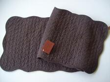 Solid Chocolate Brown Quilted Cotton Table Runner Great Finds CHOCOLATE