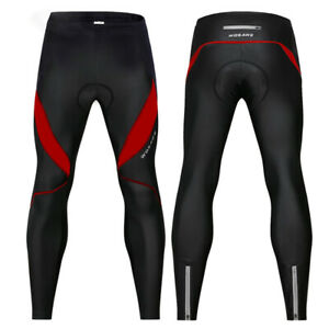 WOSAWE Mens Womens Padded Cycling Bike Long Pants Riding Compression Sports