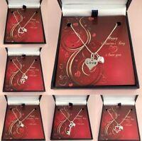 Valentín Collar, Regalo de San Valentín para Esposa, Novia, Novia Plata de Ley