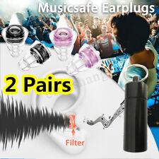 2Paare 21db Rauschunterdrückung Ohrstöpsel Gehörschutz Musik Konzert Disco Party