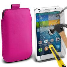 Cover e custodie pelle sintetici rosi modello Per Huawei Ascend G per cellulari e palmari