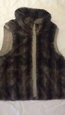 Giubbotto imbottito senza maniche - peloso - taglia 38 - colore marrone - USATO