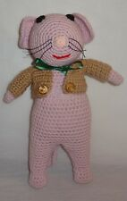 "New Mouse Doll 12"" Crochet Finished Complete Toy"